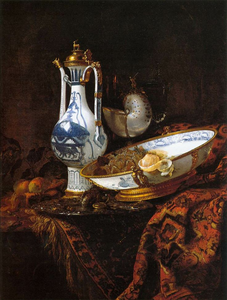 Still-Life with an Aquamanile, Fruit, and a Nautilus Cup